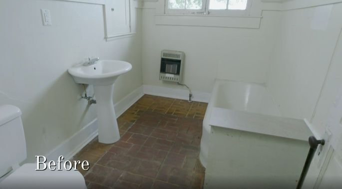 This bathroom wasn't stylish or functional.