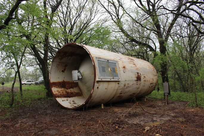Before: Most people wouldn't dream of living in an old storage tank.