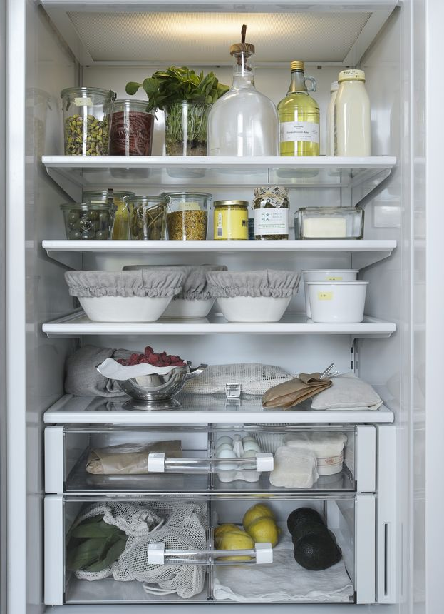 The secret of an organized refrigerator is thinking like a foodie and paying attention to how your food is stored.