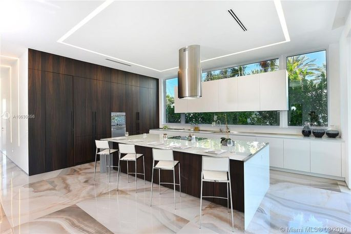 Kitchen with hidden pantry
