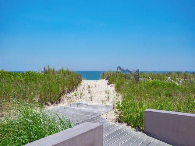 One of three walkways to the beach