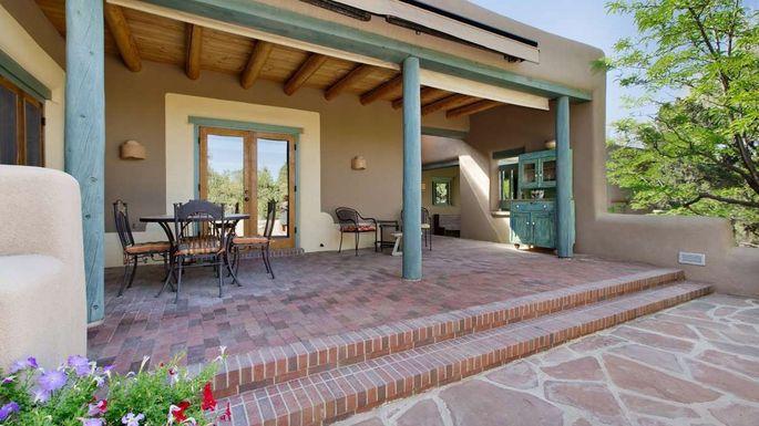 Back patio in Santa Fe, NM