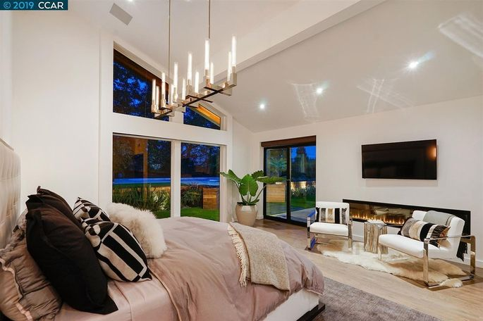 Taking out the closet and adding a seating area made this master bedroom a retreat.