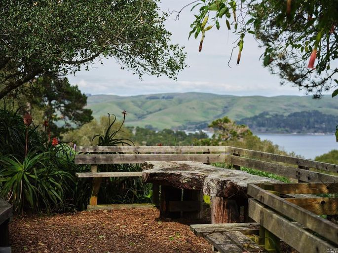 Deck with views of Tomales Bay
