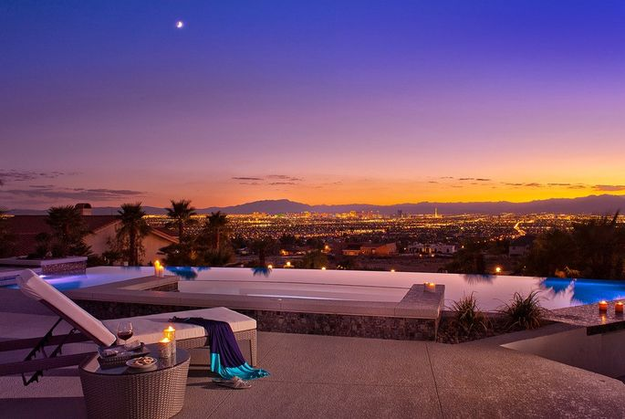 The pool at Vegas Views