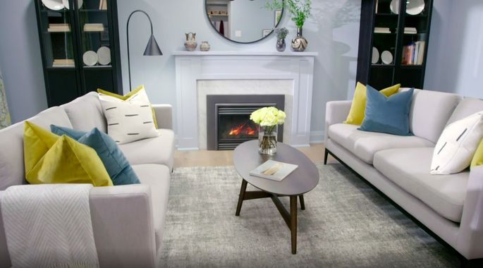 The fireplace now makes this room feel cozy and welcoming.