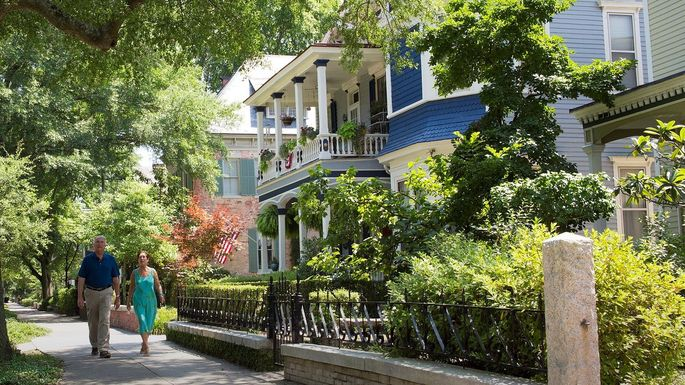 A street in the historic district of Wilmington, NC