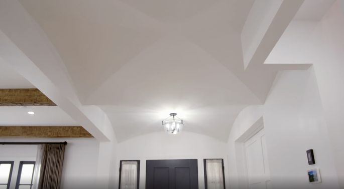 Jonathan went all-out with this groin vault ceiling.