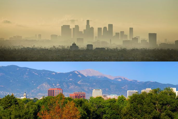 The 10 U S Cities With Best And Worst Air Quality