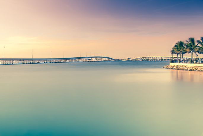 The bridges between Port Charlotte and Punta Gorda over the Peace River