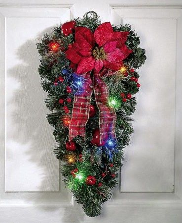 LED poinsettia display