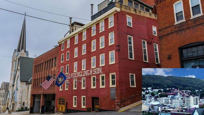 The Yuengling brewery in Pottsville, PA