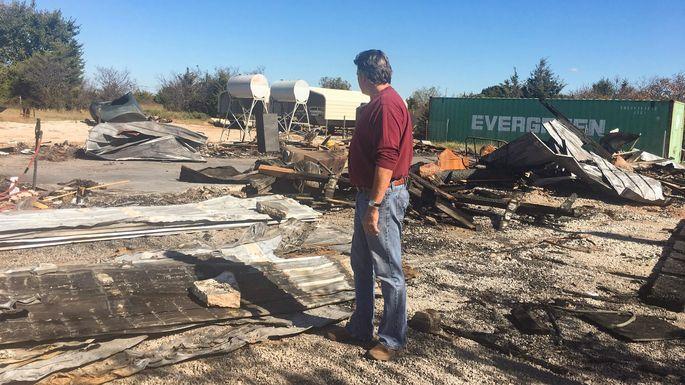 Mike Hazlip surveys the devastation
