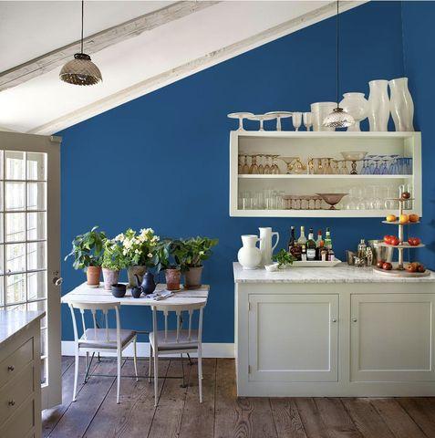 Kitchen paint colors - blue