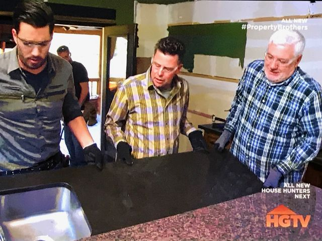 T.J. and Tom must work together with Jonathan to create an acceptably-sized kitchen