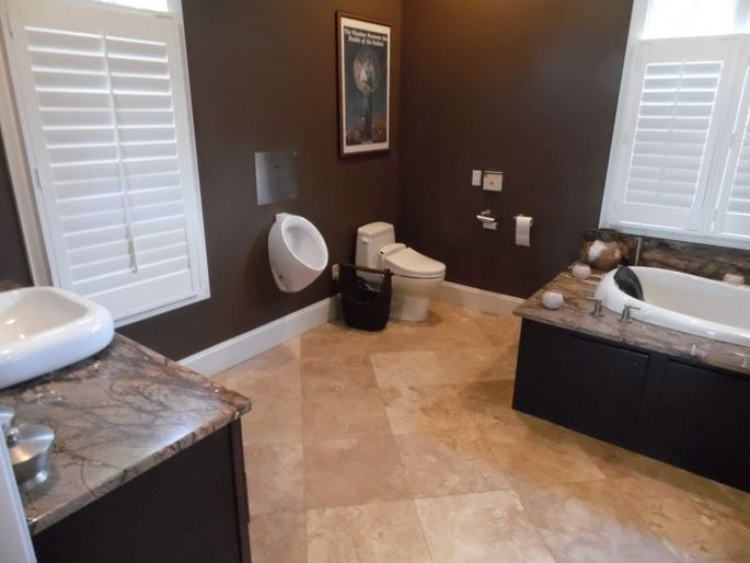 The Home Urinal: 7 Houses That Let You Stand in the Bathroom ... Home Design Urinal on home bathroom, home sauna, home shower, home window, home toilet,
