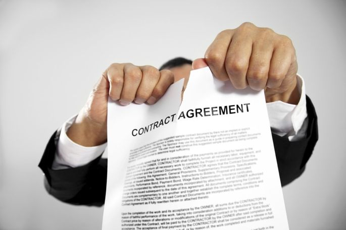 ripping up contract