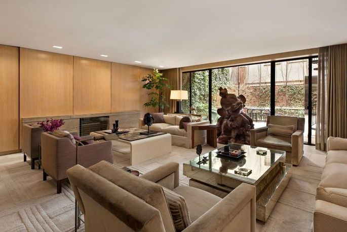 Family room opens to the garden courtyard