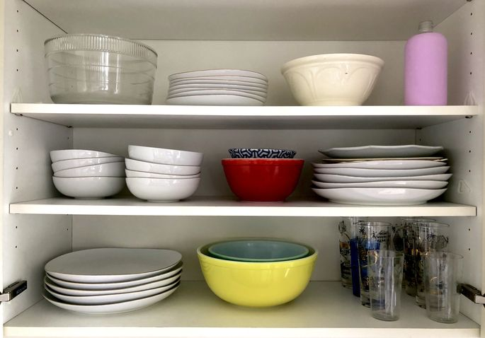 Put the items you use the most on the bottom shelf.