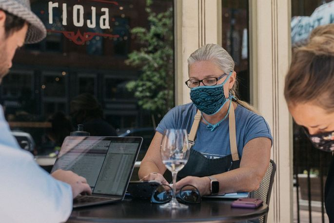 Chef Jennifer Jasinski was able to reopen her restaurant to dine-in customers last week, but with limited capacity.