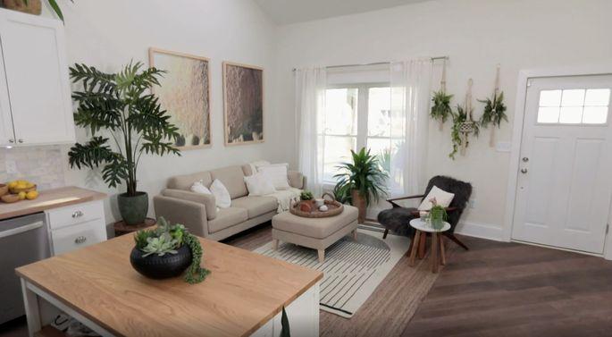 This furniture looks great with Mina Starsiak's Scandinavian design.