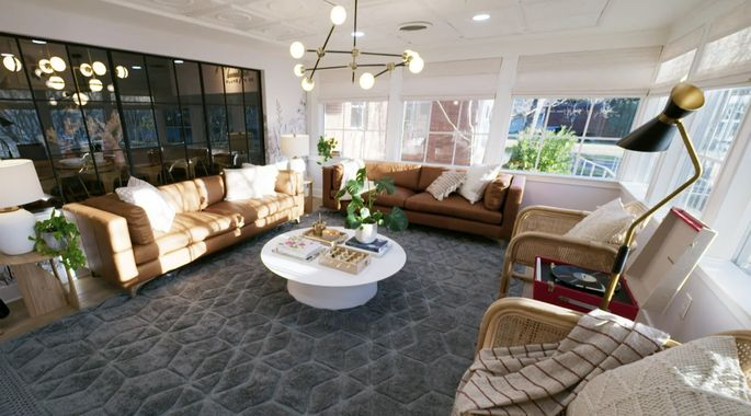 After: Now, this space feels like a real living room.