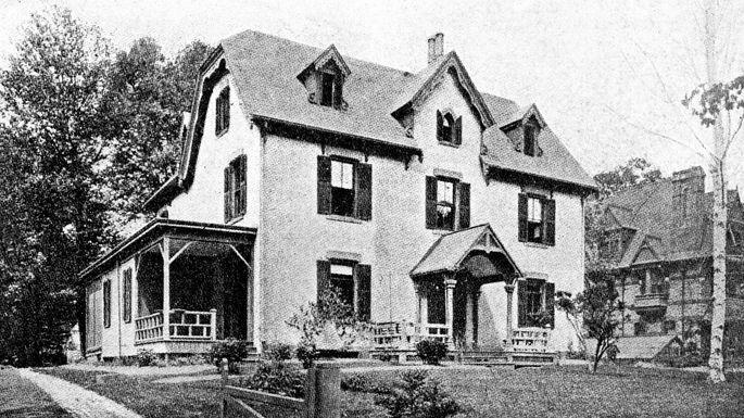 The home of Harriet Beecher Stowe in Hartford, CT