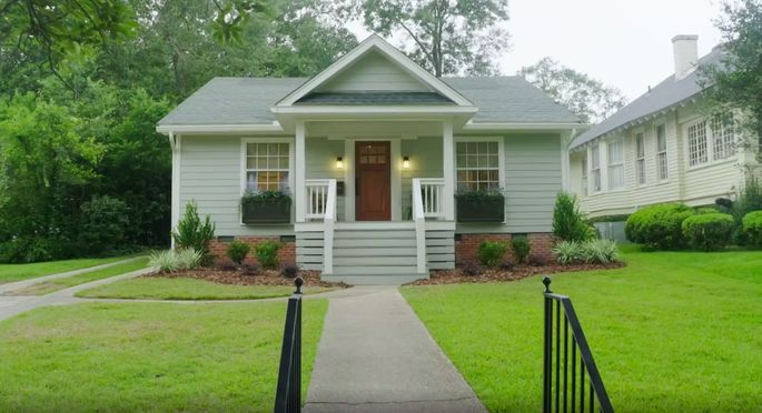 The porch makes a dramatic difference to the exterior of this home!