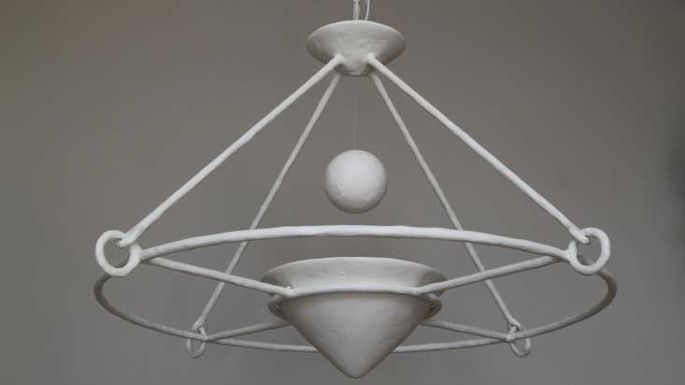 Plaster chandelier