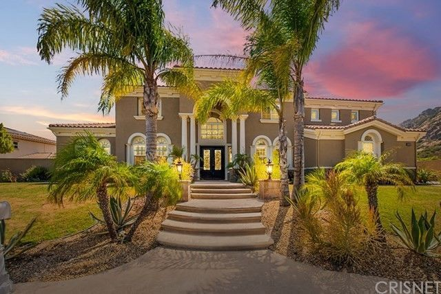 Front exterior of mansion in Chatsworth, CA