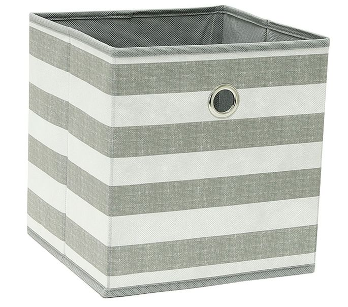 These fabric bins are perfect for storing books, clothes, and snacks.
