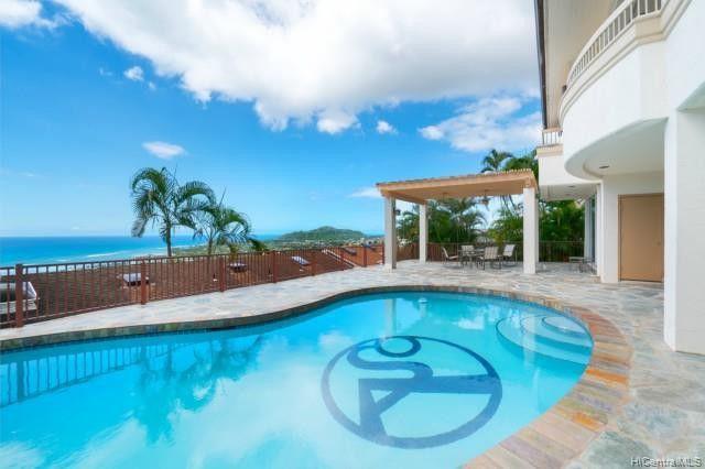 Pool logo terrace house aloha state house