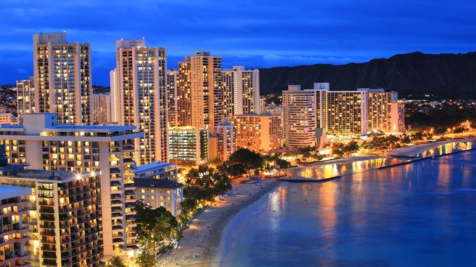 High-rise buildings in Honolulu