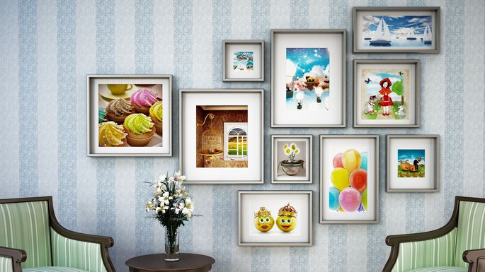Take your art game to the next level with a gallery wall.