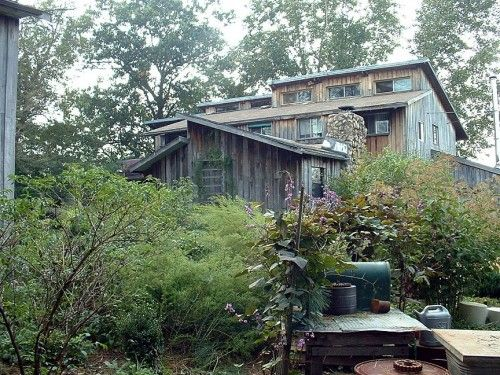 The TaChai house is home to the Twin Oak Community's hammock shop and has several bedrooms above.