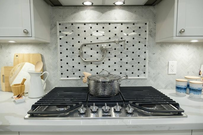 An interesting backsplash