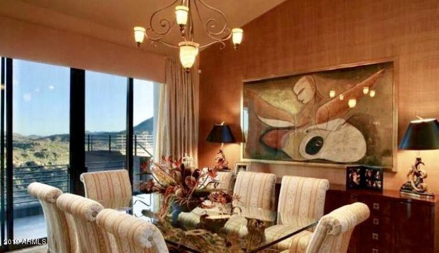 Steven Seagal dining room in Scottsdale home