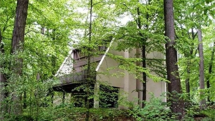 Frank Lloyd Wright Inspired Treehouse In Pennsylvania Up For Grabs At 595 000