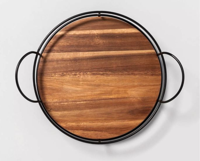 This stylish Lazy Susan keeps everything within reach.