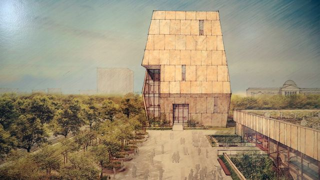 A rendering of the proposed Obama Presidential Center.