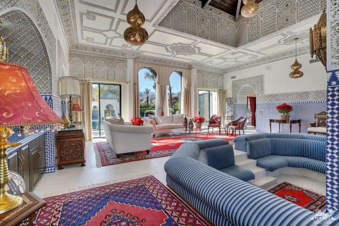 Moorish-style living room