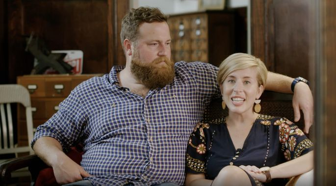 "Ben and Erin Napier on their show ""Home Town"""