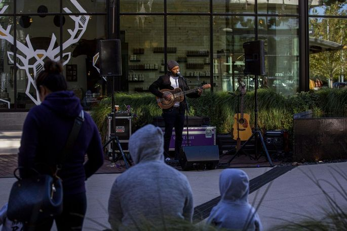Musician Carl 'Buffalo' Nichols in Austin on Sunday. Growth in the city has pushed development out of town.