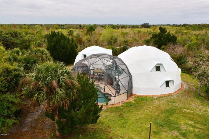 Floridau0027s Space Coast is known as the launching pad for trips to the moon. And this futuristic three-dome home for sale on the Space Coast looks as if it ... & Go Geodesic Today: Dome Sweet Dome on Floridau0027s Coast | realtor.com®