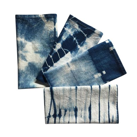 shibori cloth napkins