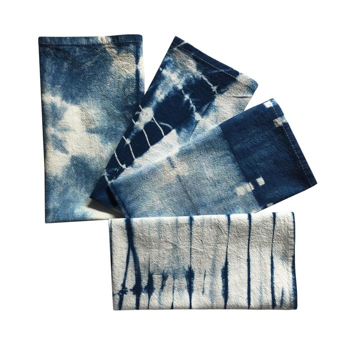 Shibori cloth napkins are stylish and eco-friendly.