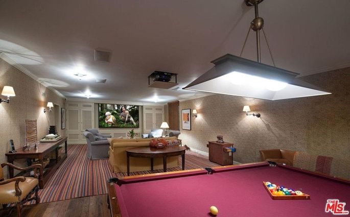 Media room and pool table