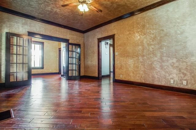 New floors, walls, and light fixtures