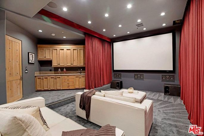 Screening room with wet bar/concession stand