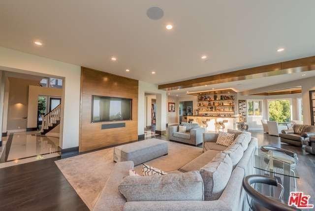 Living area in Malibu home